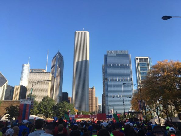 Start maratonu w Chicago